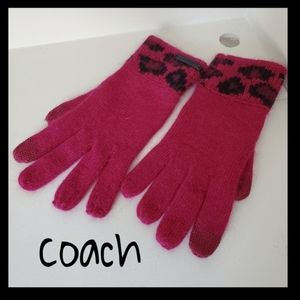 Coach women gloves New one size